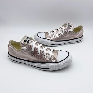 Converse All Stars Low Top Metallic Blush